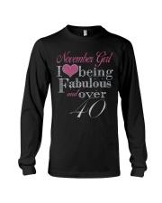 November Girl Fabulous And Over 40 Long Sleeve Tee thumbnail