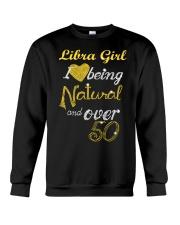 Libra Girl Natural And Over 50 Crewneck Sweatshirt thumbnail
