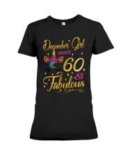 December Girl Fabulous And Over 60 Premium Fit Ladies Tee thumbnail
