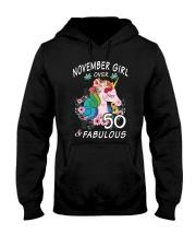 November Girl Fabulous And Over 50 Hooded Sweatshirt thumbnail