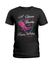 A Queens Was Born In February Ladies T-Shirt thumbnail