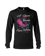 A Queens Was Born In February Long Sleeve Tee thumbnail