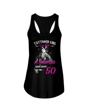 Tattooed Girl I Love Being A Smartass And Over 50 Ladies Flowy Tank thumbnail