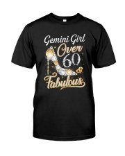 Gemini Girl Fabulous And Over 60 Classic T-Shirt front