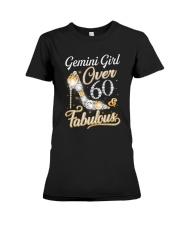 Gemini Girl Fabulous And Over 60 Premium Fit Ladies Tee thumbnail