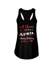 A Queen Was Born In April  Ladies Flowy Tank thumbnail