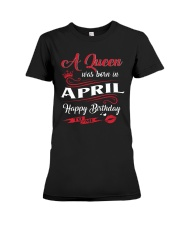 A Queen Was Born In April  Premium Fit Ladies Tee thumbnail