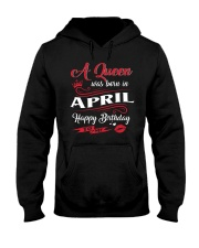 A Queen Was Born In April  Hooded Sweatshirt thumbnail