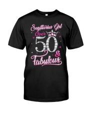 Sagittarius Girl Fabulous And Over 50 Classic T-Shirt front