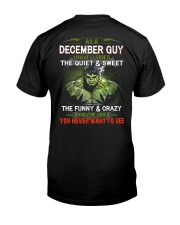 December Men - Special Edition Classic T-Shirt back