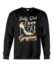 July Girl Gorgeous And Over 50 Crewneck Sweatshirt thumbnail