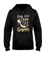July Girl Gorgeous And Over 50 Hooded Sweatshirt thumbnail