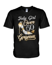 July Girl Gorgeous And Over 50 V-Neck T-Shirt thumbnail