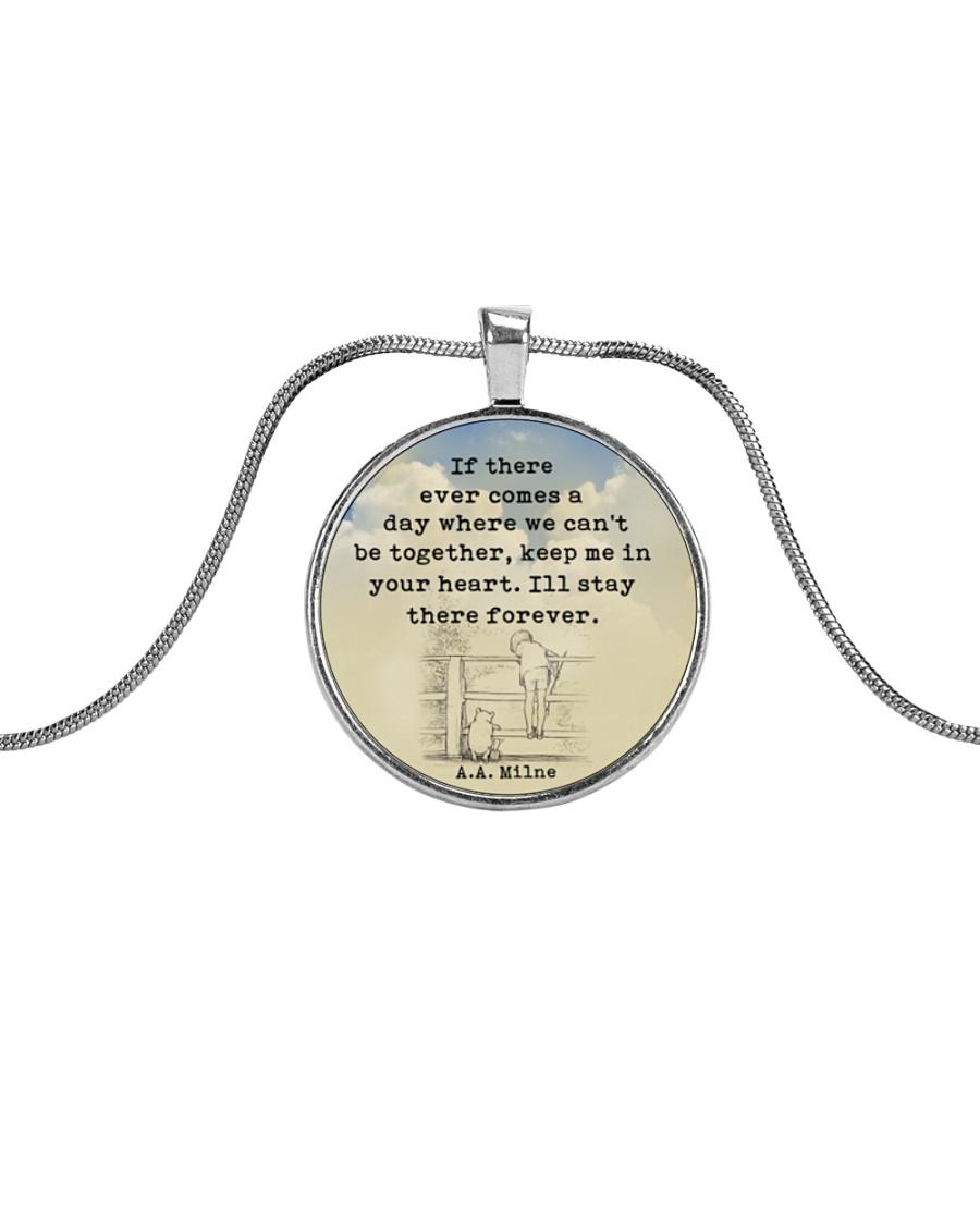 test Metallic Circle Necklace