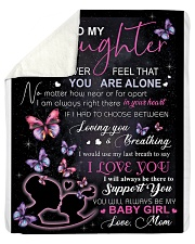 "To My Daughter Never Feel That You Are Alone Sherpa Fleece Blanket - 50"" x 60"" thumbnail"