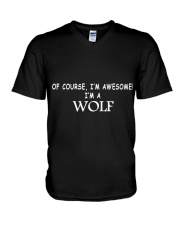 WOLFS ARE AWESOME  V-Neck T-Shirt thumbnail