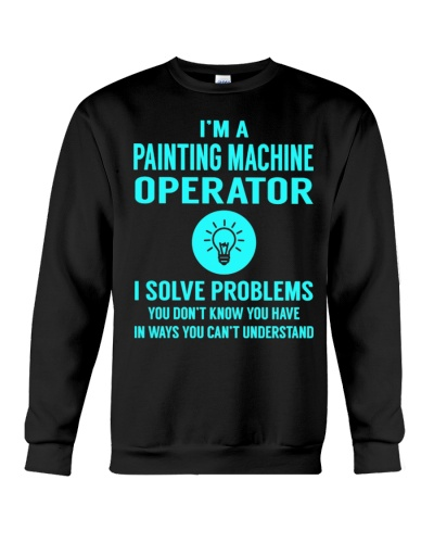 CUTE PAINTING MACHINE OPERATOR SOLVE PROBLEMS