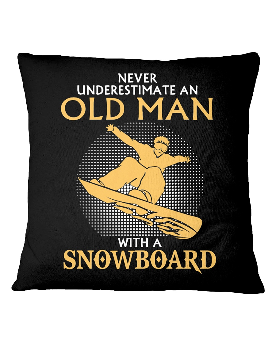 CHRISTMAS SPECIAL SNOWBOARDING T SHIRT  Square Pillowcase