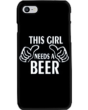 THIS GIRL NEEDS A BEER  Phone Case thumbnail