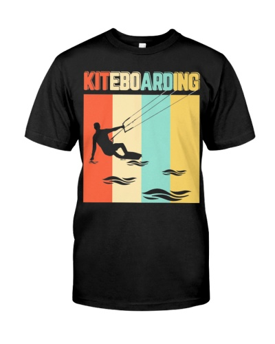 CUTE VINTAGE STYLE KITEBOARDING FUNNY GIFT IDEAL