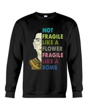 NOT FRAGILE LIKE A FLOWER Crewneck Sweatshirt thumbnail