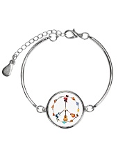 GUITAR AND PEACE Metallic Circle Bracelet thumbnail