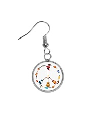 GUITAR AND PEACE Circle Earrings thumbnail