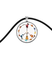 GUITAR AND PEACE Cord Circle Necklace thumbnail