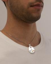 GUITAR AND PEACE Metallic Circle Necklace aos-necklace-circle-metallic-lifestyle-2