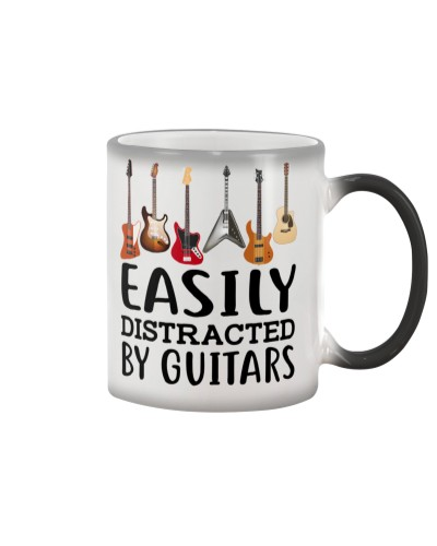 EASILY DISTRACTED BY GUITARS COLOR CHANGING MUG