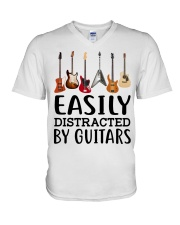 EASILY DISTRACTED BY GUITARS MUG V-Neck T-Shirt thumbnail
