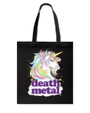 Death Metal Unicorn Tote Bag thumbnail