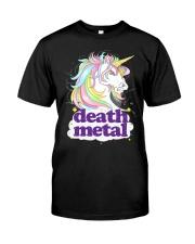 Death Metal Unicorn Classic T-Shirt front