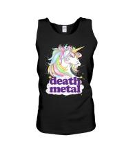 Death Metal Unicorn Unisex Tank thumbnail