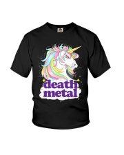 Death Metal Unicorn Youth T-Shirt thumbnail