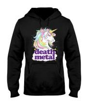Death Metal Unicorn Hooded Sweatshirt thumbnail