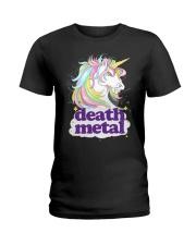 Death Metal Unicorn Ladies T-Shirt thumbnail