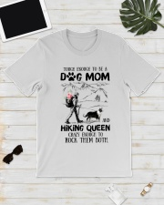 Tough enough to be a Dog mom and Hiking queen Classic T-Shirt lifestyle-mens-crewneck-front-17