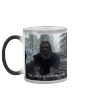 Hey you're finally awake Color Changing Mug color-changing-left