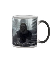 Hey you're finally awake Color Changing Mug color-changing-right
