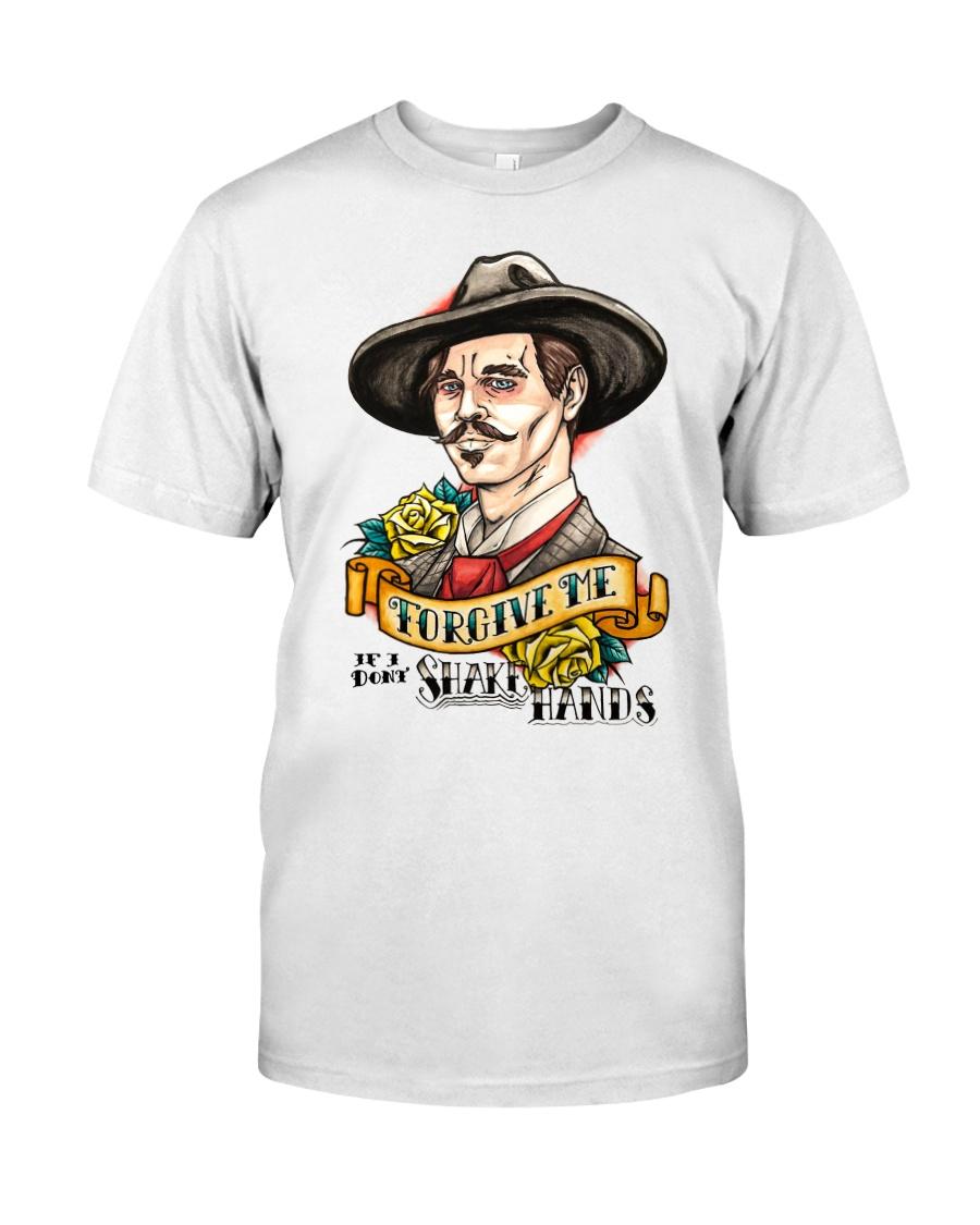 Forgive me if i dont shake hands Classic T-Shirt