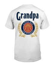 Grandpa - A fine man and patriot Classic T-Shirt back