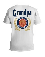 Grandpa - A fine man and patriot V-Neck T-Shirt thumbnail