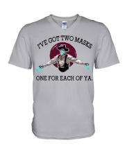 Forgive me if I don't shake hand V-Neck T-Shirt thumbnail