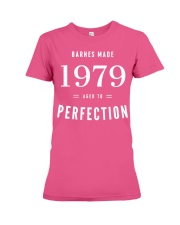 Barnes Made 1979 Aged To Perfection Premium Fit Ladies Tee front