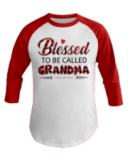 BLESSED TO BE CALLED GRANDMA Baseball Tee front