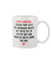STEP FATHER CHRISTMAS  GIFT Mug front
