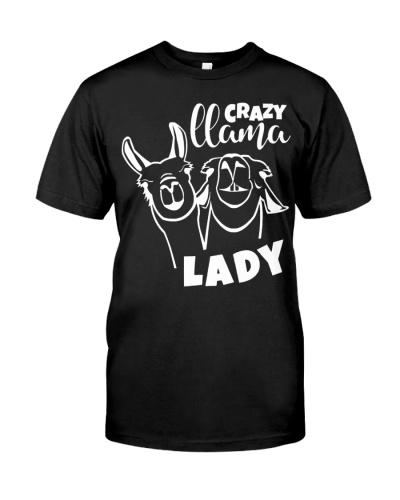 Llama crazy Lady