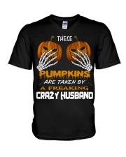 These Pumpkins - Crazy Husband V-Neck T-Shirt thumbnail