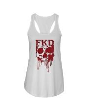 FKD Frankford Philadelphia Dripping Skull Ladies Flowy Tank thumbnail
